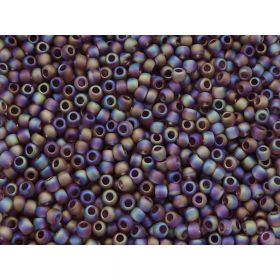 TOHO™ / Round 8/0 / Transparent Rainbow Frosted / Med Amethyst / 10g / ~ 300 pcs