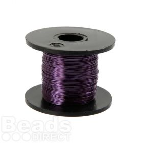 Dark Purple Coloured Copper Craft Wire 0.315mm 70metre Reel