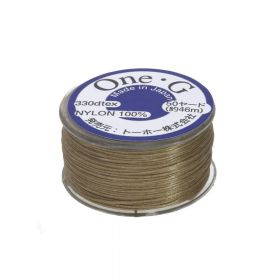 TOHO One-G ™ / nylon thread for beads / Sand Ash / thickness 0.35mm / 46m