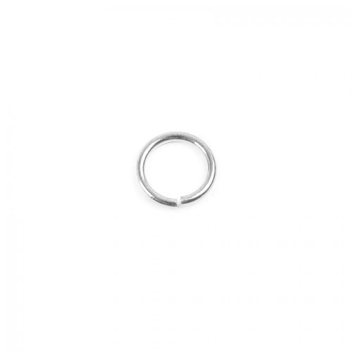 Silver Plated Jump Rings 6mm 0.8mm Thick Pk50