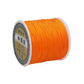 Macramé™ / Macramé cord / nylon / 0.8mm / orange / 100m