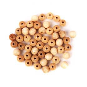 Preciosa Wood Beads 8mm Beige Pk50