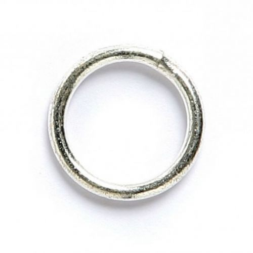 Soldered closed ring silver plated 10mm. Pack of 50