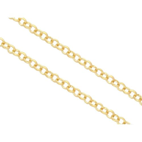 Rolo chain / 5mm / wire 0.8mm / gold / 1m