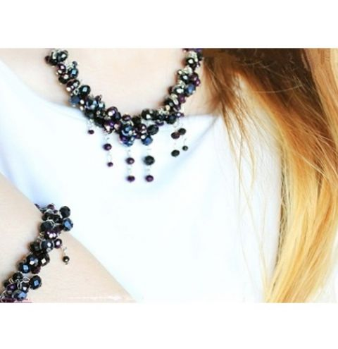 How to make a Crystal Links Necklace and Bracelet - step by step tutorial