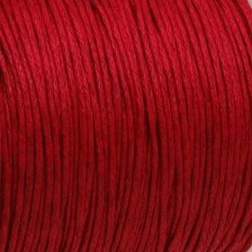 Waxed cord / red / 1.0mm / 1m