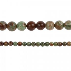"Green Opal Semi Precious Round Beads 6mm 15"" Strand"