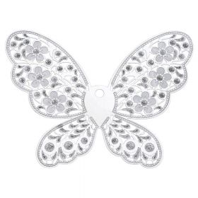 Butterfly / filigree pendant / surgical steel / 69x90x0.3mm / silver / 1pcs