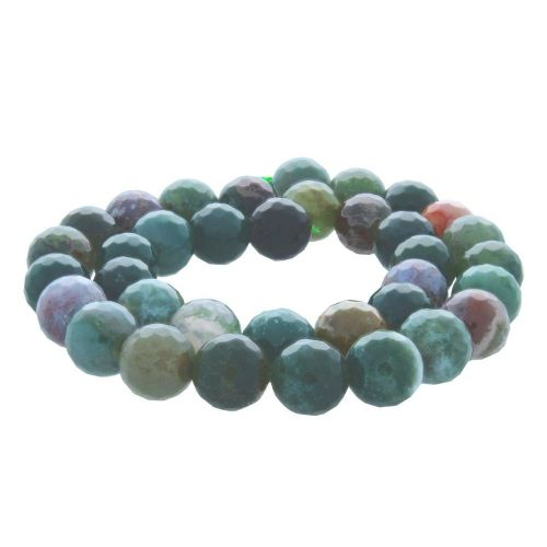 Indian agate / faceted round / 8mm / 46pcs