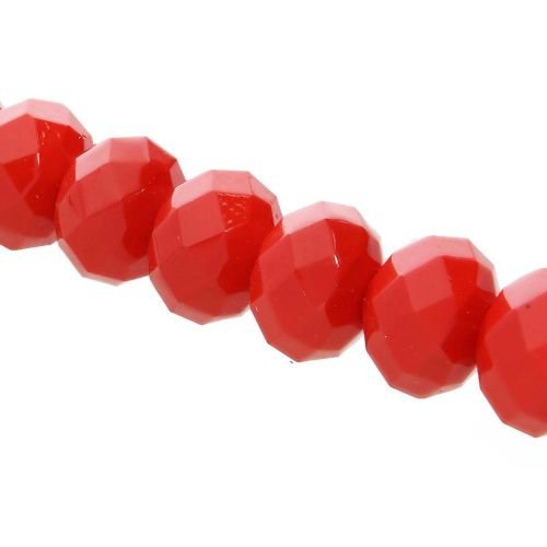 Milly™ / rondelle / 9x12mm / red / 70pcs