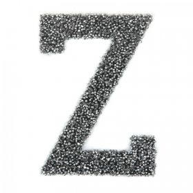 Swarovski Crystal Letter 'Z' Self-Adhesive Fabric-It Black CAL Pk1