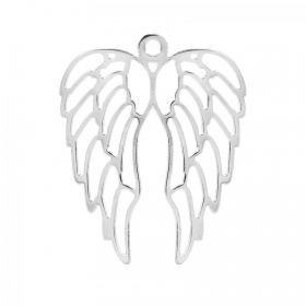 Antique Silver Large Angel Wings Charm 46x57mm Pk1
