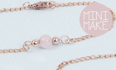Rose Quartz Friendship Bracelet | Mini-Make Monday