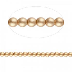 Preciosa Pressed Glass Round Beads Matte Gold 4mm Pk30