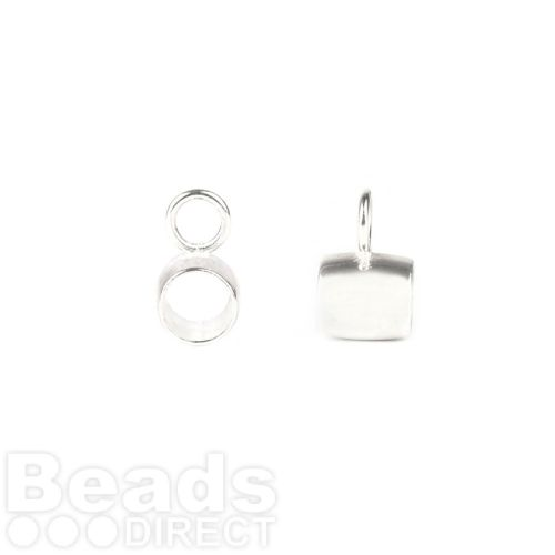 Sterling Silver 925 Charm Bead Carrier (4mm Hole) 7.5mm Pk1