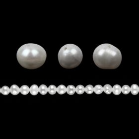 White Freshwater Pearl Beads Potato 6-7mm Pk10