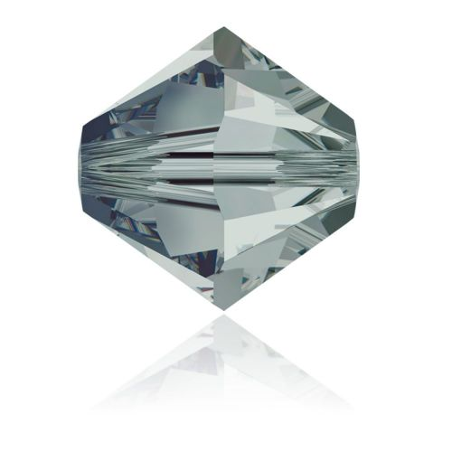 5328 Swarovski Crystal Bicones Xillion 8mm Black Diamond Pk6
