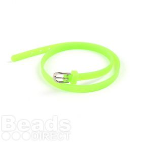 Lime Green Rubber Bracelet Base With Buckle Latex Free 37cm