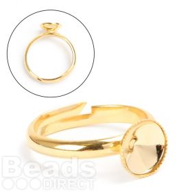 Gold Plated Ring Base Holds 8mm(SS39) Rivoli Pk1