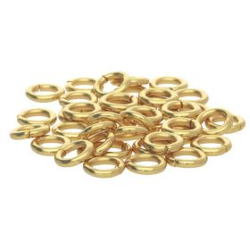Jump rings / surgical steel / 10mm / gold / wire 1.2mm / 20pcs