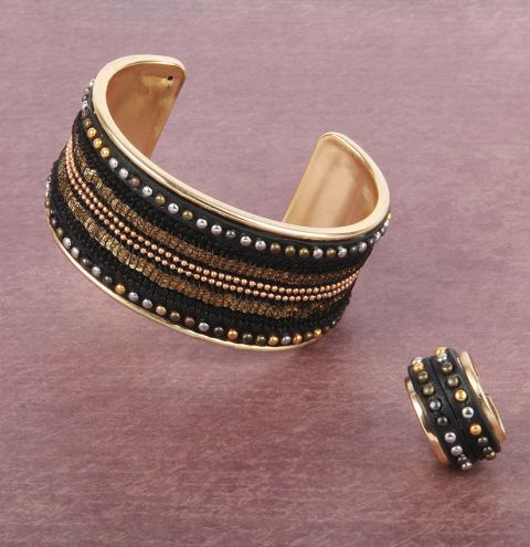 Golden Glow Bangle & Ring