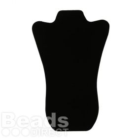 Black Velour Large Flat Foldable Jewellery Stand 15x36cm Pk1