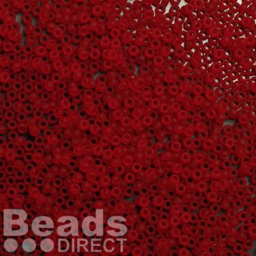 Toho Size 11 Round Seed Beads Transparent-Frosted Siam Ruby 10g
