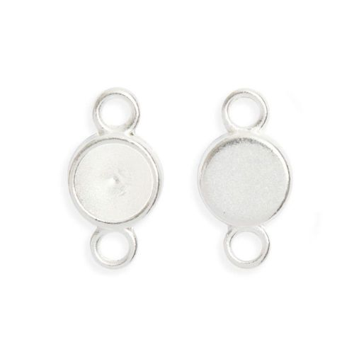 X Silver Plated Charm Setting Pack 2 for 8mm Chaton