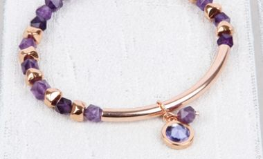 Amethyst Nugget Bracelet | Mini Make Monday