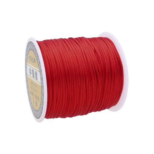Satin cord / 1.5mm / red / 70m