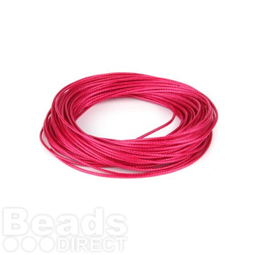 Shiny Coated Braiding Cord 1mm Pink 10m