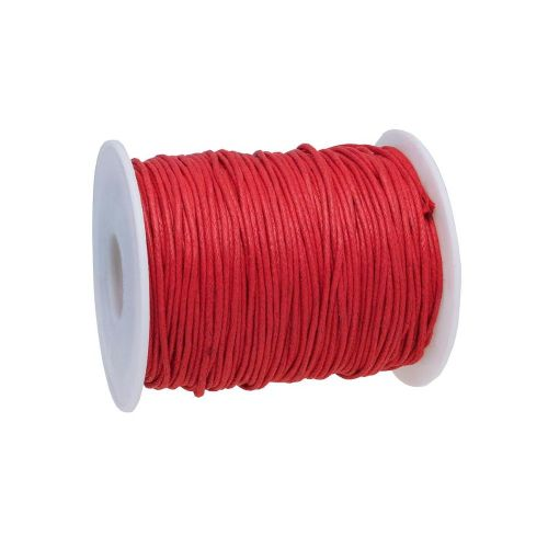 Waxed cord / 1.5mm / red / 72m