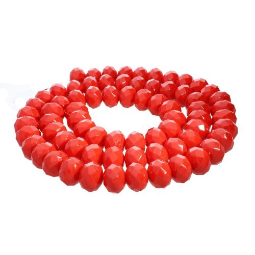 Milly™ / rondelle / 8x10mm / red / 70pcs