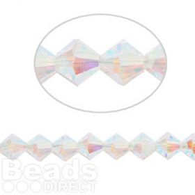 5328 Swarovski Crystal Bicones Xillion 6mm Crystal AB (2 Coat) Pk24