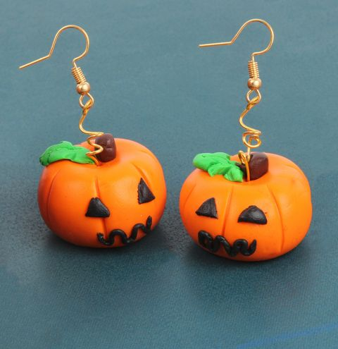 FIMO Pumpkin Earrings