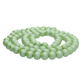 SeaStar™ satin / round / 8mm / pistachio / 120pcs