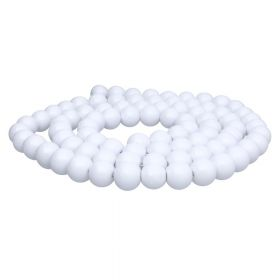 Milly ™ / round / 8mm / white / 100pcs