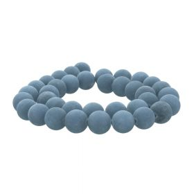 Agate / matte finish / round / 10mm / steel grey / 36pcs
