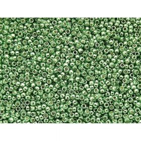 TOHO™ / Round 15/0 / Permanent Finish Matte Galvanized / Mint Green / 10g / ~1400pcs