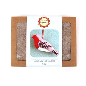 Corinne Lapierre Mini Embroidered Robin Felt Craft Kit