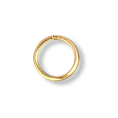 Jumprings gold-plated 8mm. Pack of 100