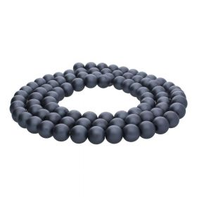 SeaStar™ satin / round / 10mm / graphite / 85pcs