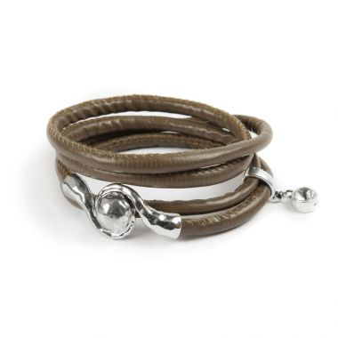 Taupe and Silver Bracelet