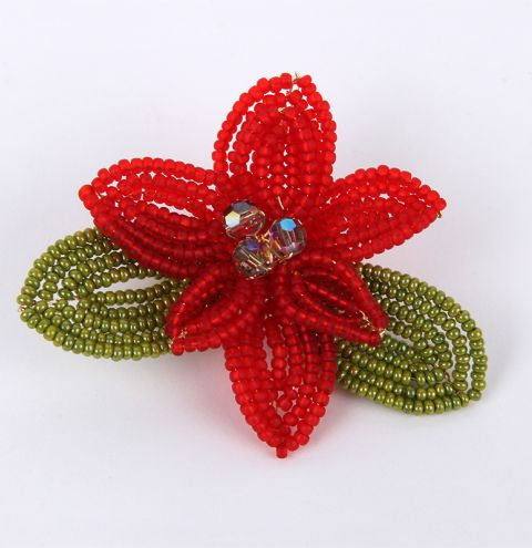 12 Designs of Christmas Day 1 - How To Make A Beaded Christmas Wreath