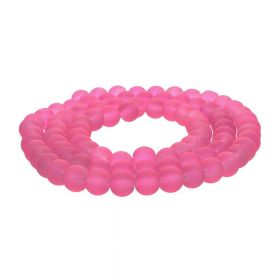 Frozen ™ / round / 10mm / dark pink / 80pcs