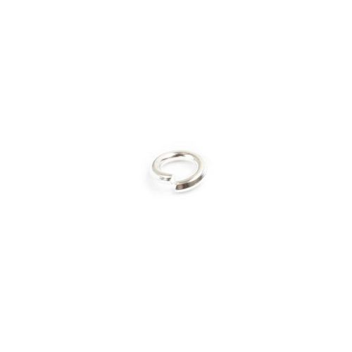 X Jumprings silver-plated 4mm. Pack of 100