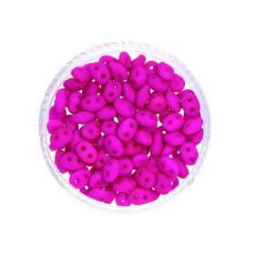 SuperDuo ™ / 2.5x5mm / Neon / Dark Purple / 10g / ~ 140pcs
