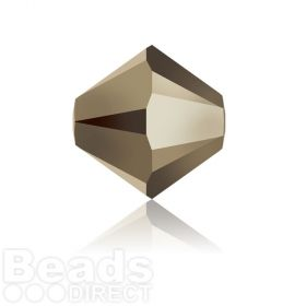 5328 Swarovski Crystal Bicones 6mm Crystal Metallic Light Gold 2x Pk360