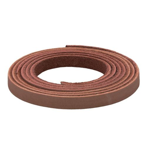 Leather cord / natural / flat / 6x2mm / nut brown / 1m