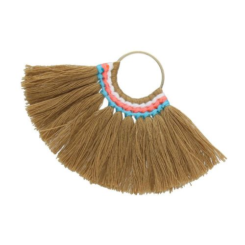 Fan tassel / viscose thread / round base / 55mm / nut / 1pcs